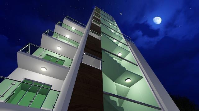 Residencial Living VIP - Vista nocturna